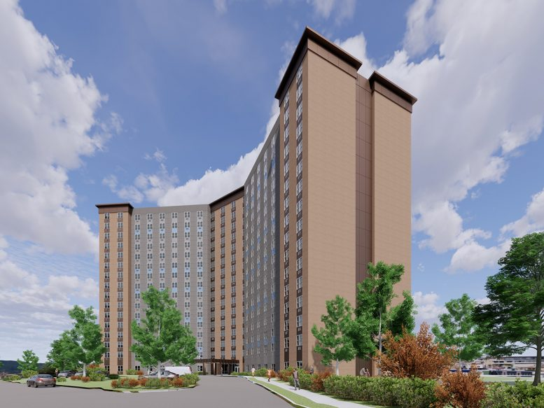 Rendering of Norman Towers following renovation - Rendering by Inglese Architecture + Engineering