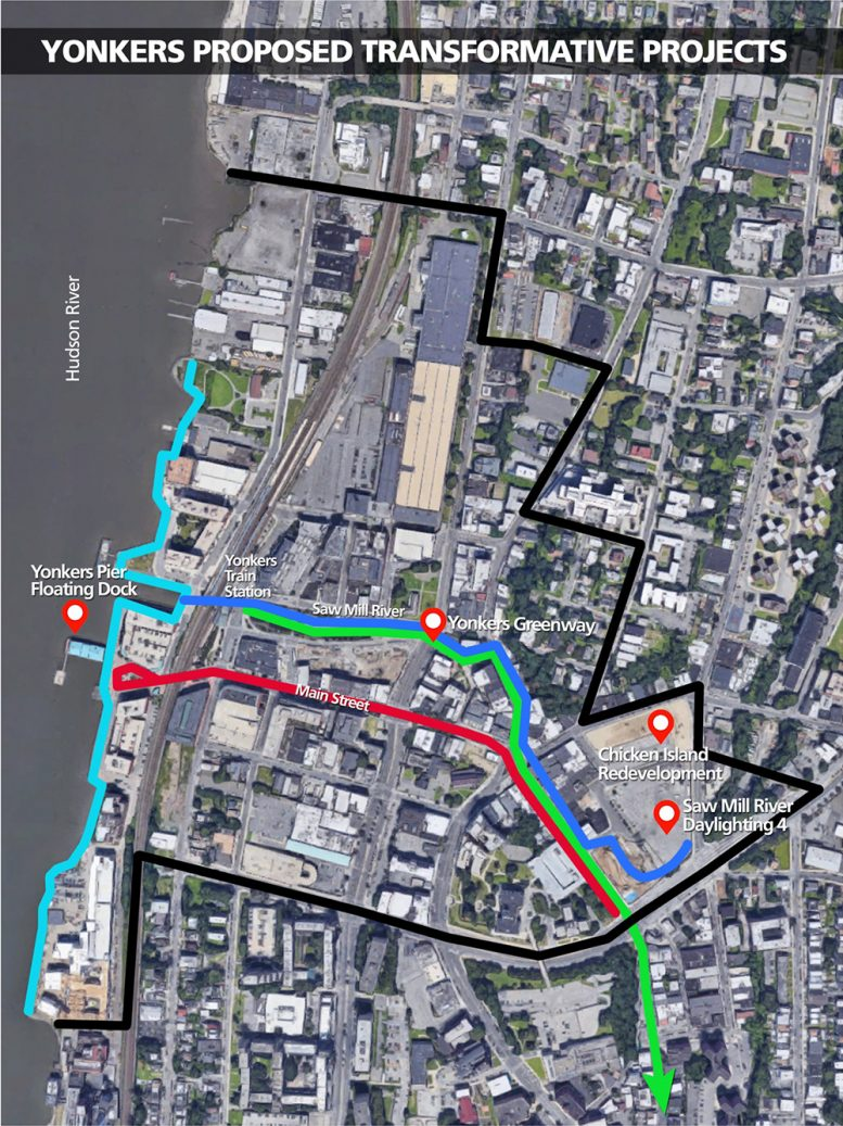 Site map of proposed Yonkers Redevelopment