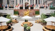 Outdoor summer dining in Rockefeller Center's Sunken Plaza - Tishman Speyer