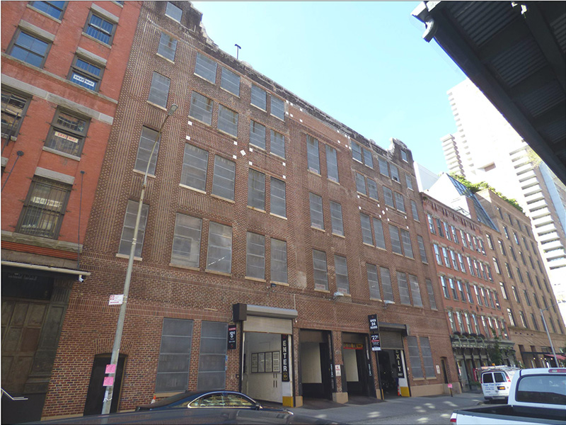 View of existing building at 56 North Moore Street - ODA