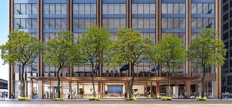 111 Wall Street Ground Floor Elevation - Nightingale Properties; Wafra Capital Partners