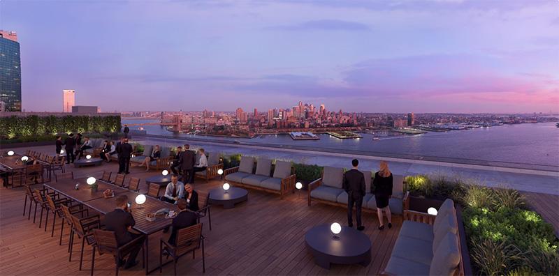 111 Wall Street Rooftop Rendering - Nightingale Properties; Wafra Capital Partners