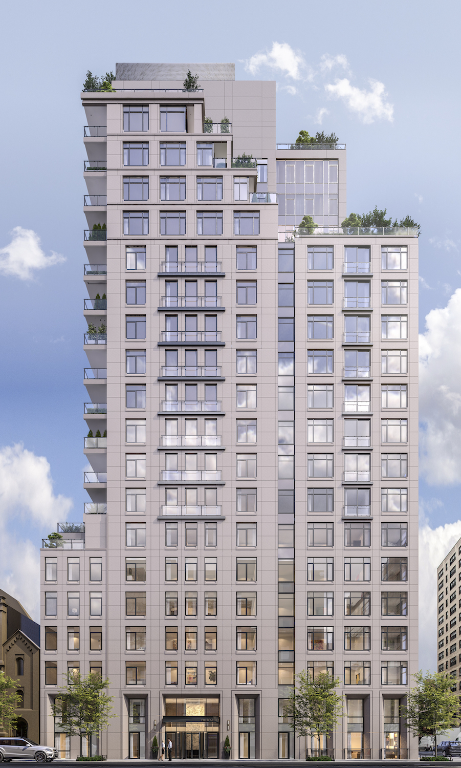 Rendering of Hillrose 28, courtesy of C3D Architecture