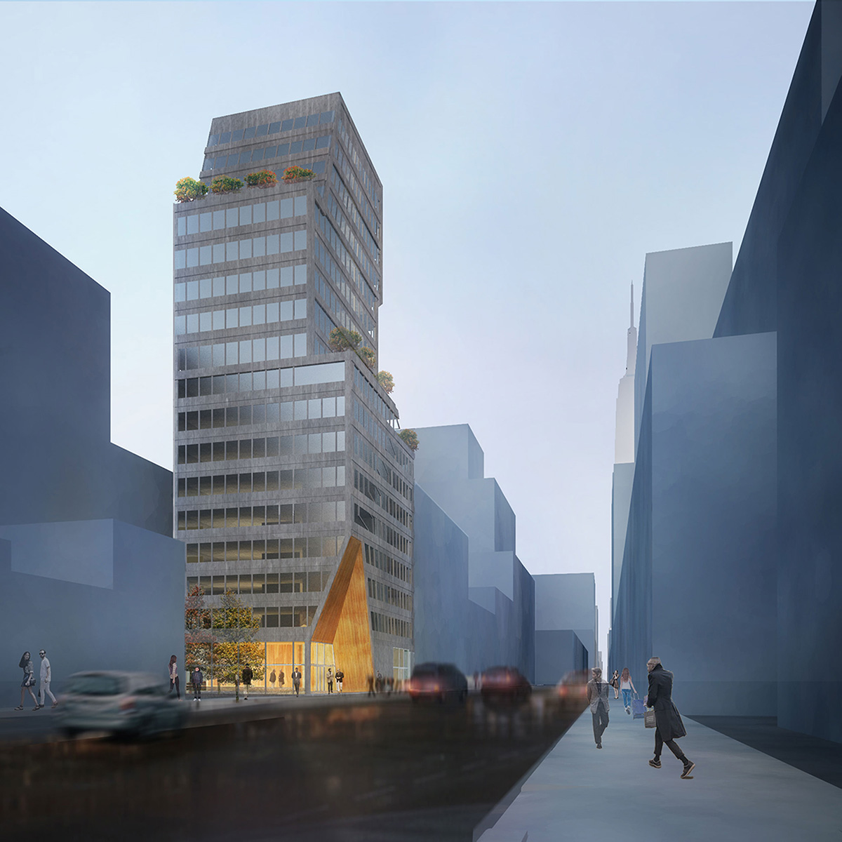 Exterior renderings of the SynaCondo - Ryan McLaughlin; Studio St Architects