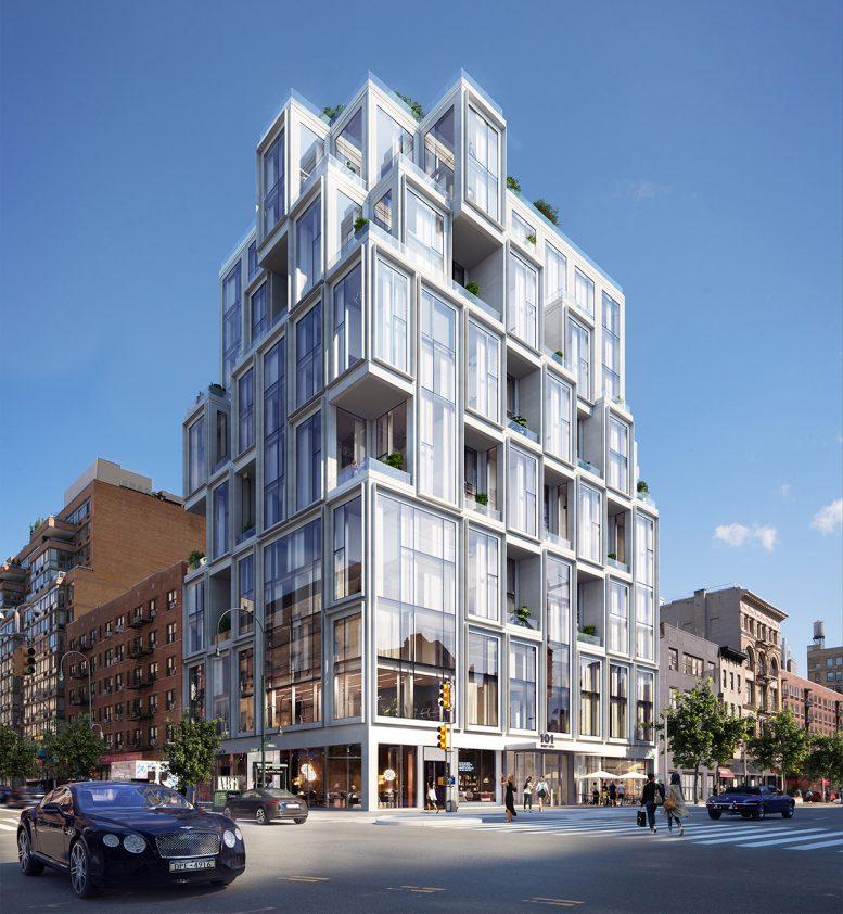 Final rendering of 101 West 14th Street - Binyan Studios; ODA New York