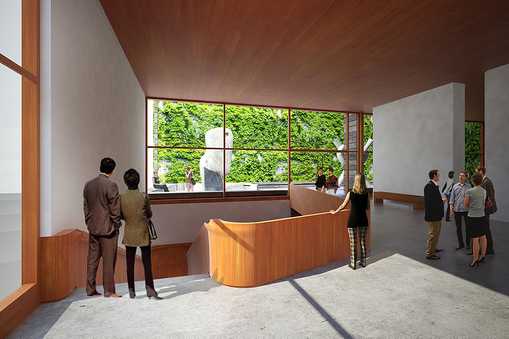 Interior renderings of the SynaCondo lobby - Ryan McLaughlin; Studio St Architects