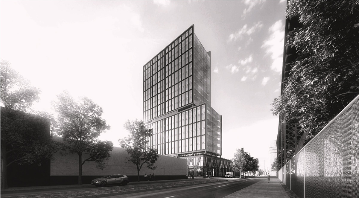 Preliminary rendering of proposed structure at 42-11 9th Street - RXR Realty