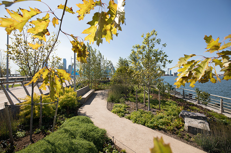 Public walkway at Pier 26 - Max Guliani for Hudson River Park