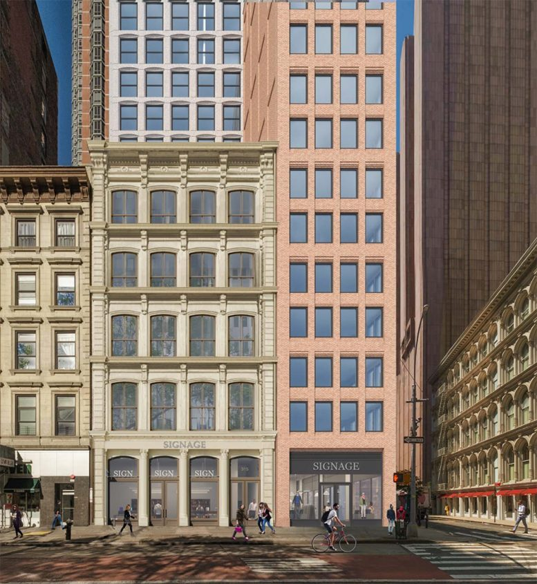 Rendering of 315-317 Broadway - Morris Adjmi Architects
