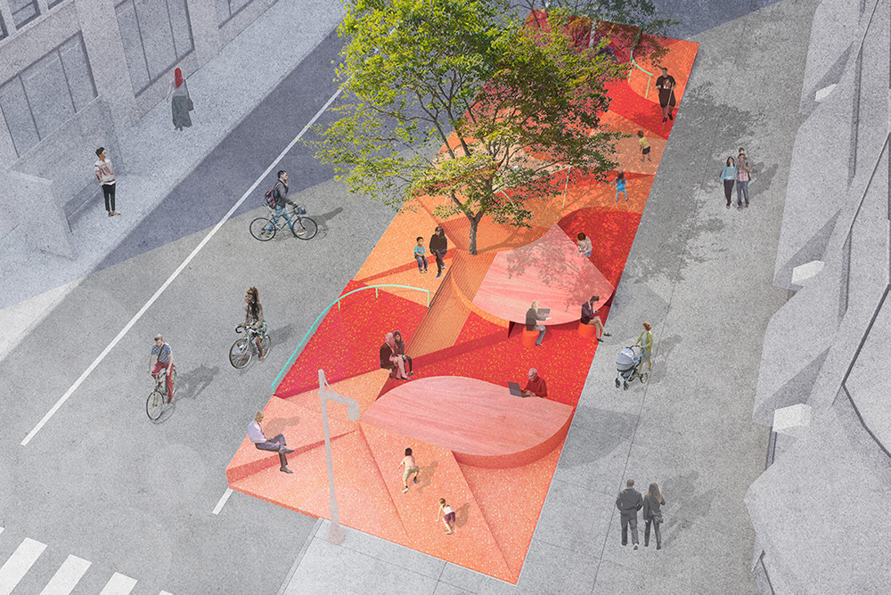 Rendering of 'Restorative Ground' at Hudson Square - WIP Collaborative