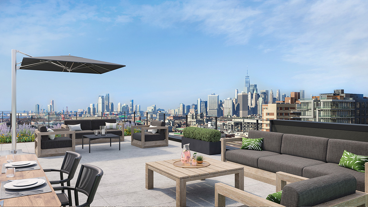 Rooftop lounge at 233 Eighteenth - NOVA Concepts Inc_