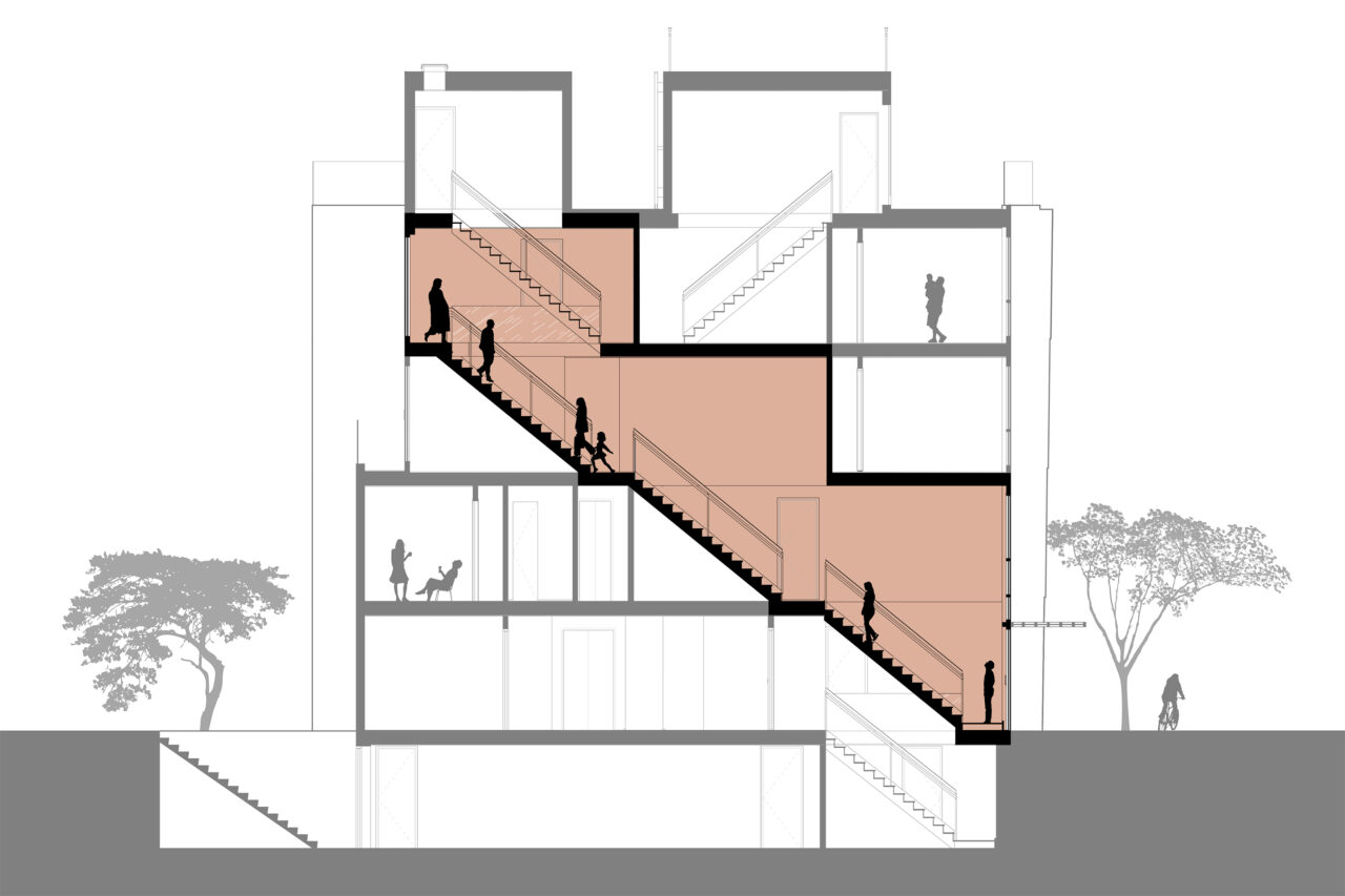 Section diagram of 246 Maple Avenue - Palette Architecture
