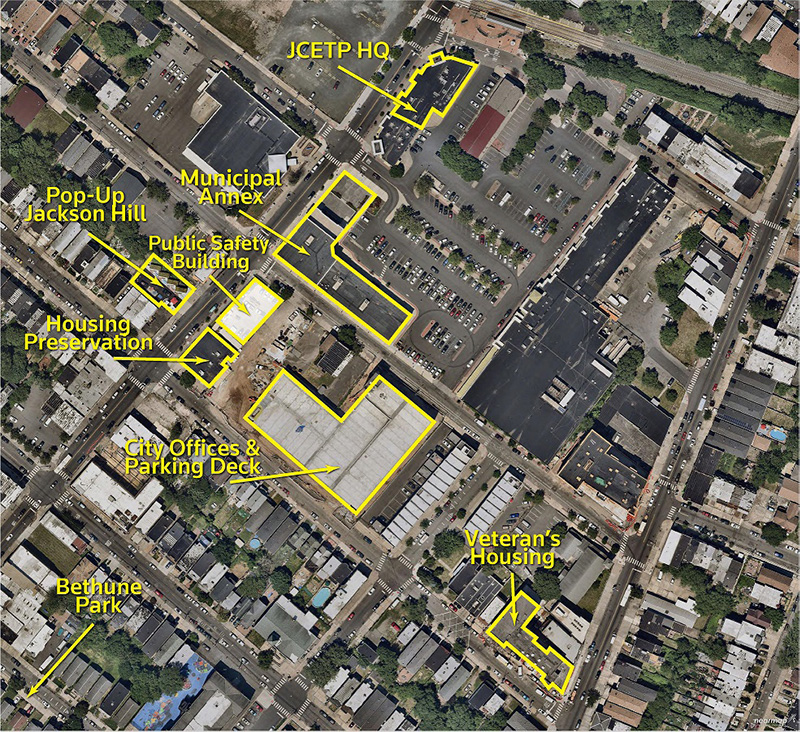 Site map illustrates the new Jersey City public safety headquarters