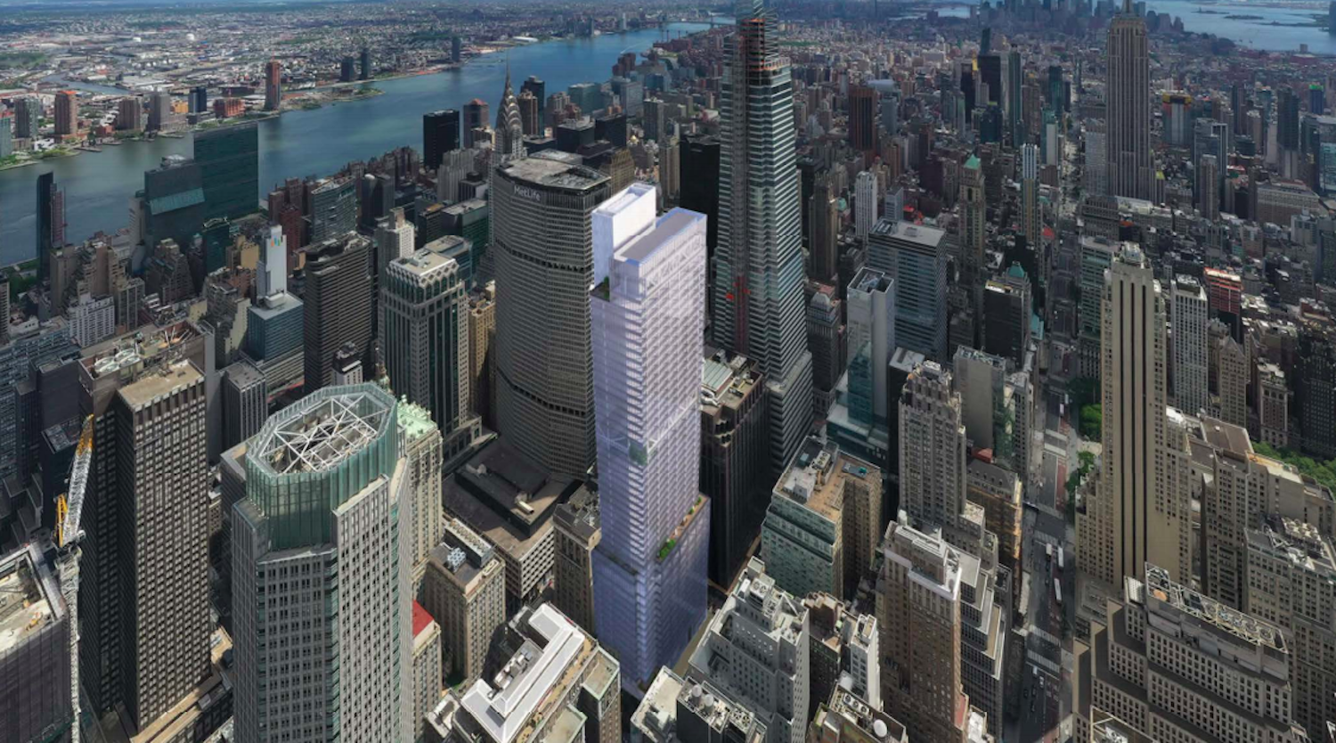 343 Madison Avenue rendering in scoping presentation. Rendering by Kohn Pedersen Fox