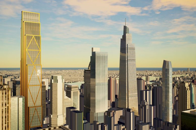 Rendering of 343 Madison Avenue via YIMBY Forumer rgarri4