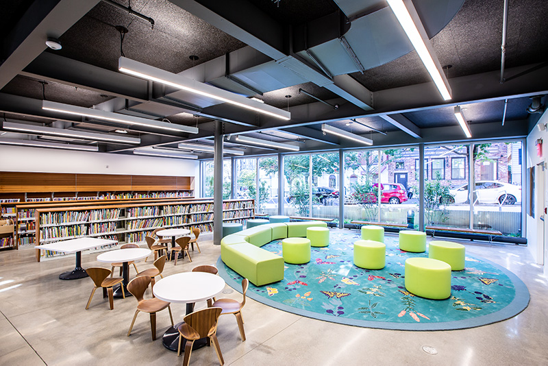 Children's area at The Greenpoint Library and Environmental Education Center - Photo by Gregg Richards