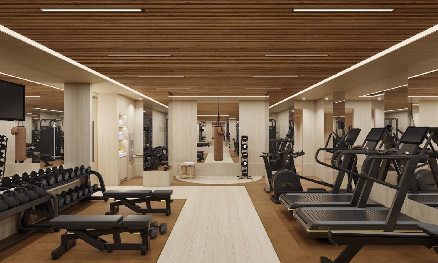 1228 Madison Avenue Fitness Center, designed by Kelly Behun Studio