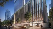 Lower level view of New York Blood Center - Rendering by DBOX