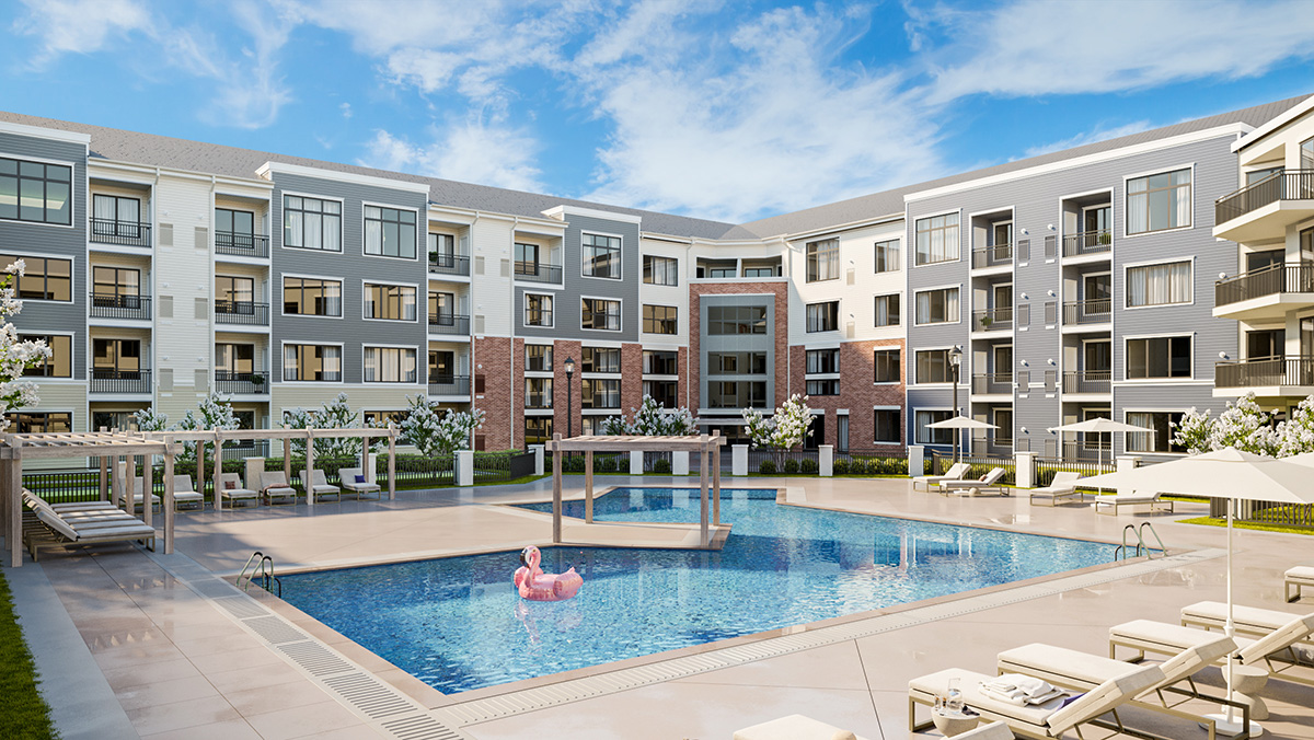 Rendering of Bay 151 Pool - Hudson Projects