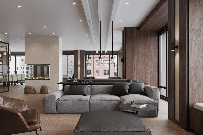 Common Lounge at 111 Varick. Credit: Binyan Studios