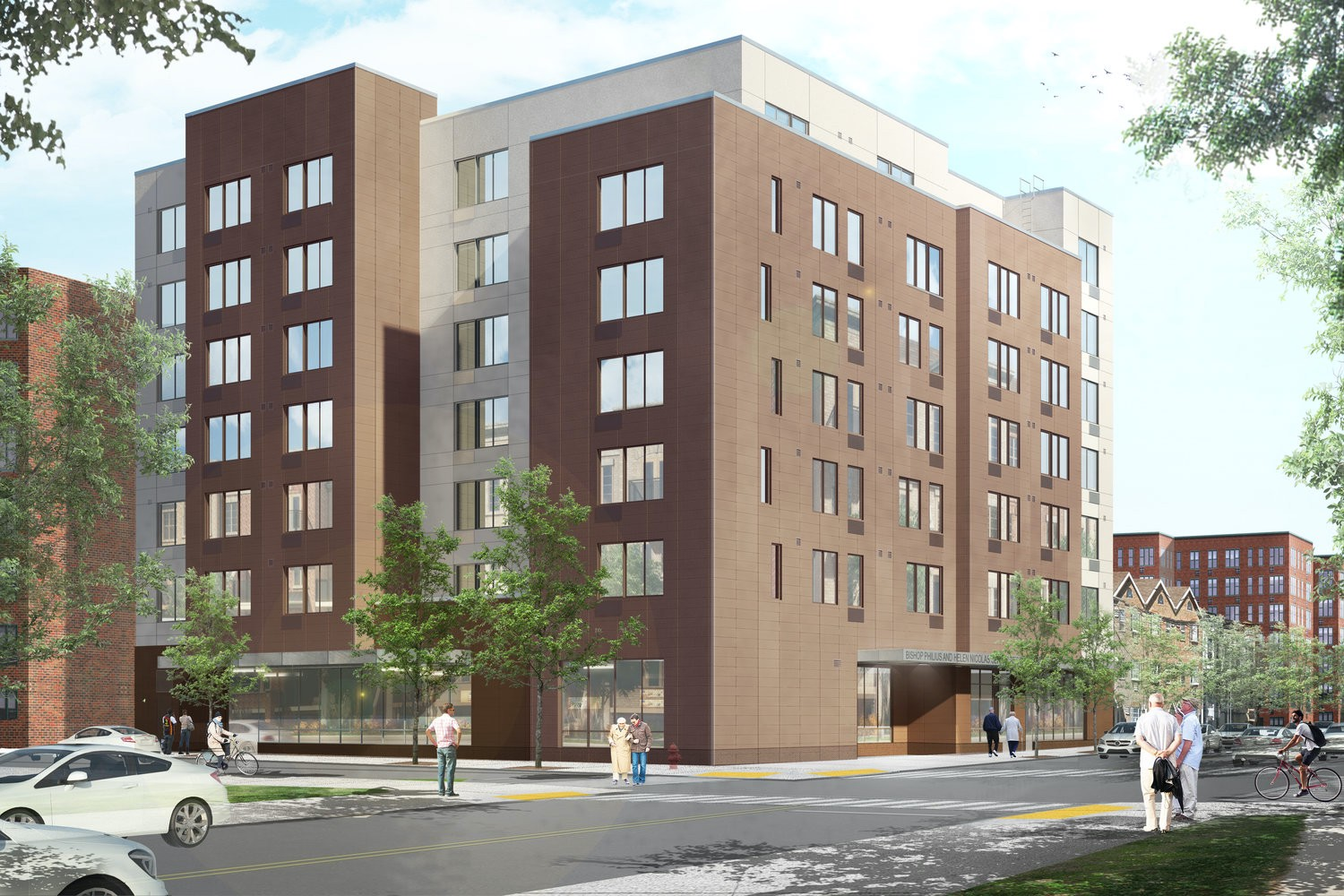 Rendering of BPHN Senior Residences in East Flatbush, Brooklyn