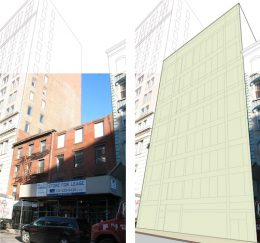 Existing conditions and preliminary renderings of 23-35 Cleveland Place