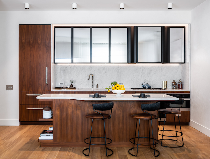 Model apartment kitchen at Greenwich West - Photo by Alan Tansey