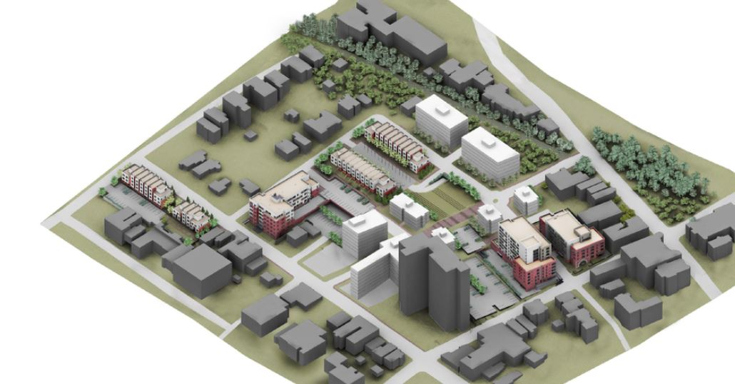 Preliminary renderings of The Ridgeway Redevelopment Master Plan