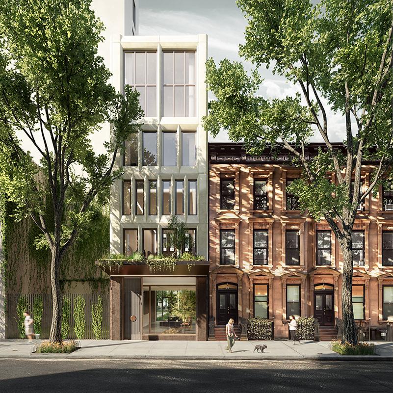 Primary entrance to 58 Saint Mark's Place - INC Architecture & Design