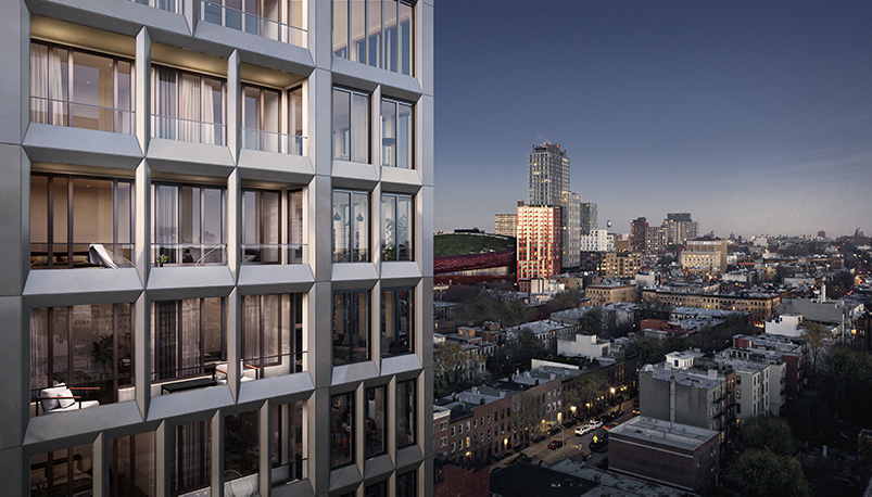 Rendering of 58 Saint Mark's Facade - INC Architecture & Design