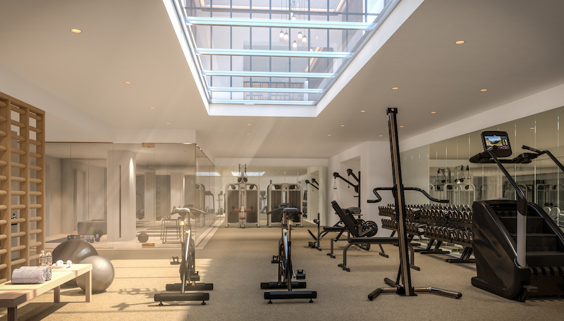 Rendering of Fitness Center Greenwich West - Rendering by Familiar Control