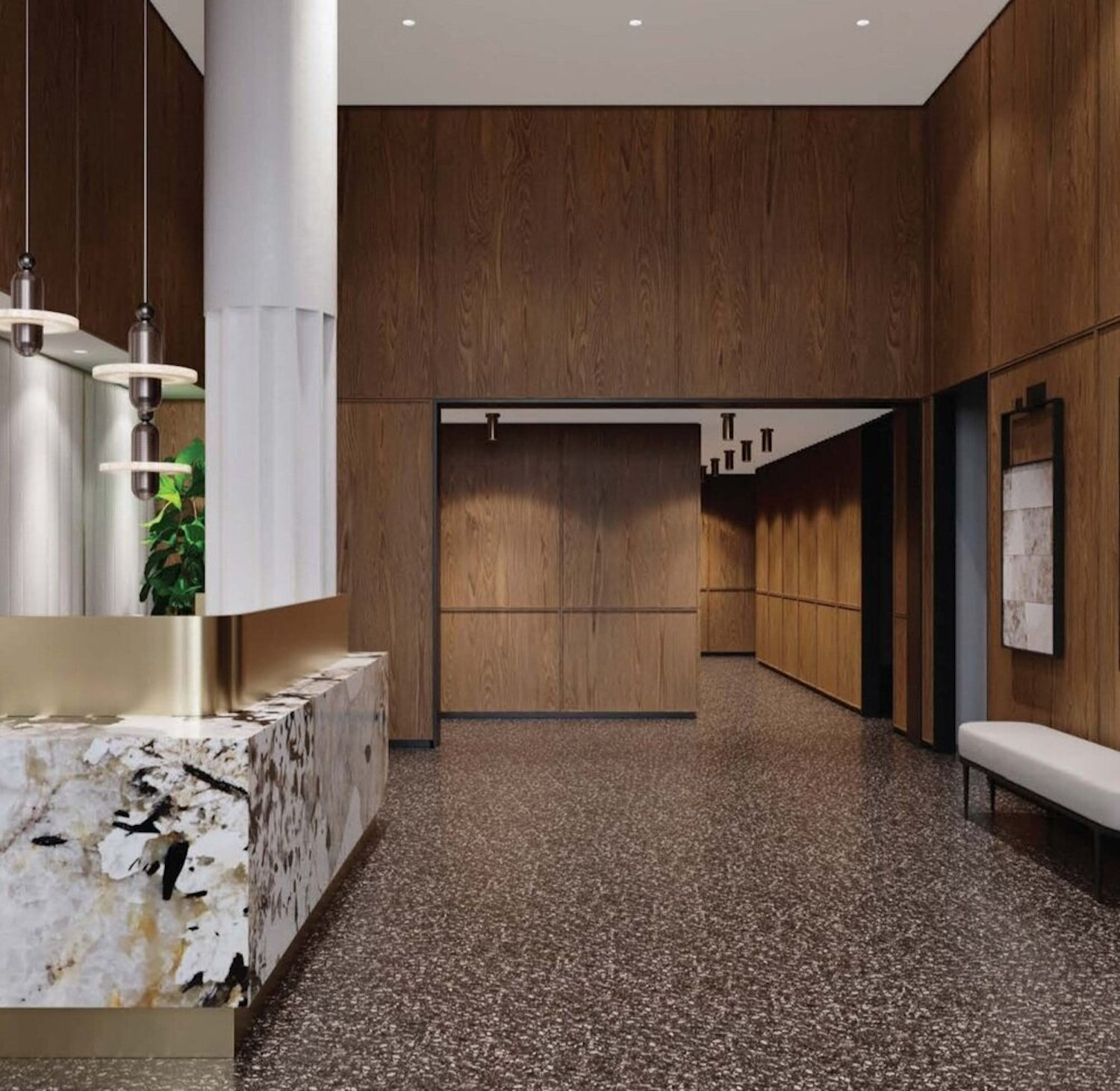 Rendering of Lobby at 834 Pacific Street