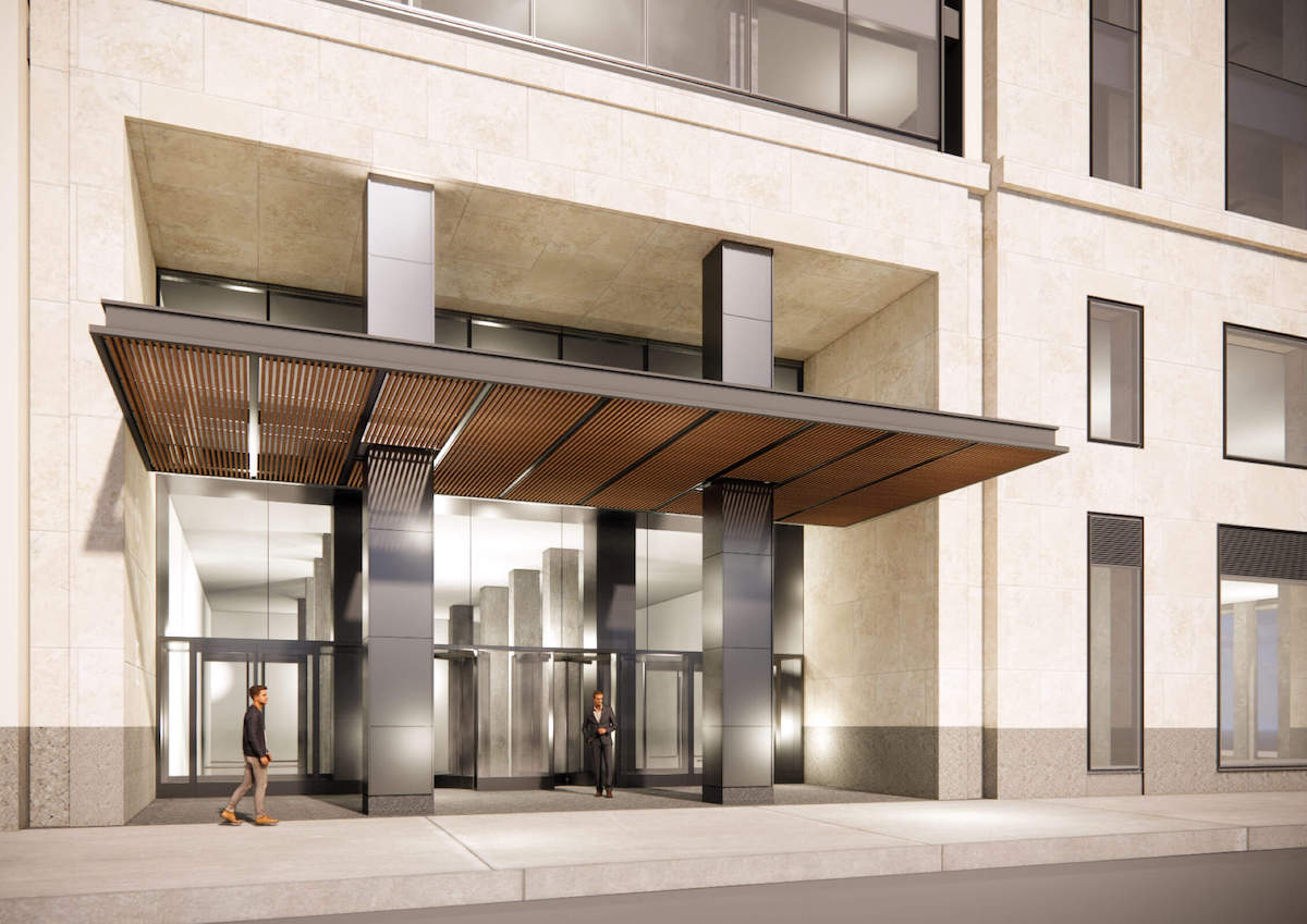 Rendering of One Madison Avenue entrance