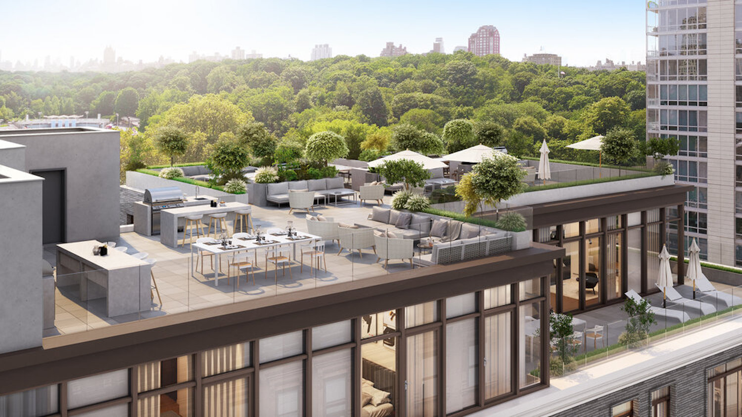 Rendering of Roof Deck at 834 Pacific Street