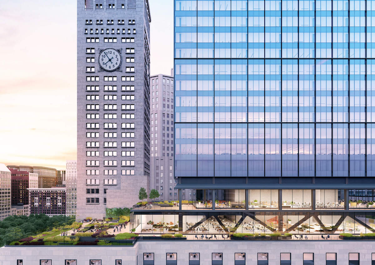 Rendering of outdoor areas at One Madison Avenue