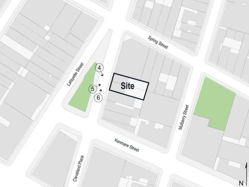 Site map illustrates proposed development at 23-25 Cleveland Place