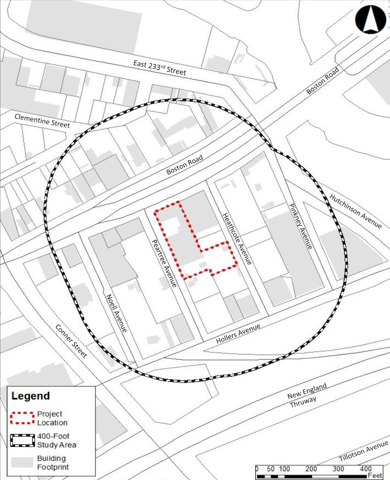 Site map of 3536 Peartree Avenue - AECOM