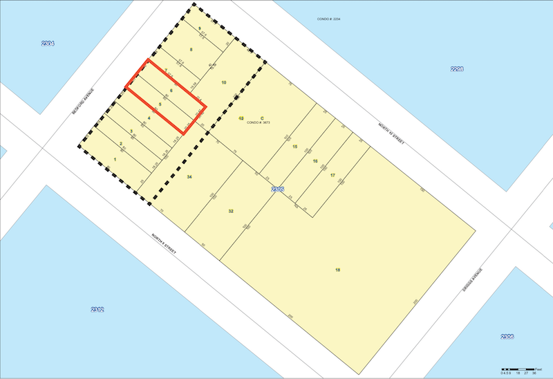 Site map of proposed development at 135-137 Bedford Avenue in Williamsburg, Brooklyn