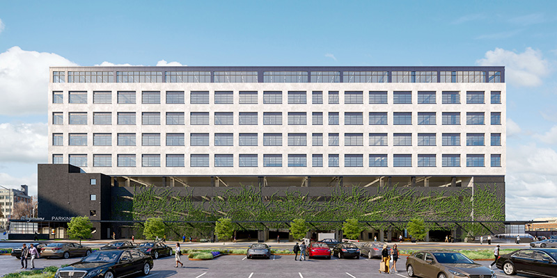Exterior rendering of Building 303 - Brooklyn Navy Yard Development Corporation