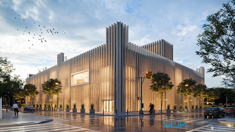Rendering of the Chabad Lubavitch World Headquarters expanded complex - S. Wieder Architect