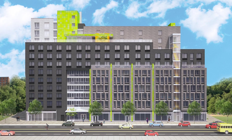 Exterior rendering of Van Dyke II at 405 Dumont Avenue