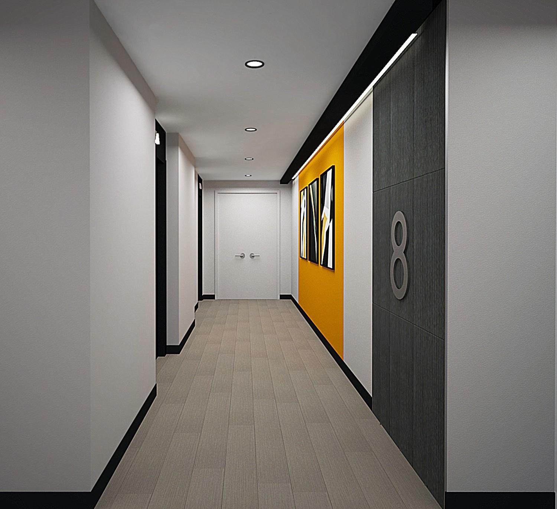Rendering of interiors for Van Dyke II at 405 Dumont Avenue