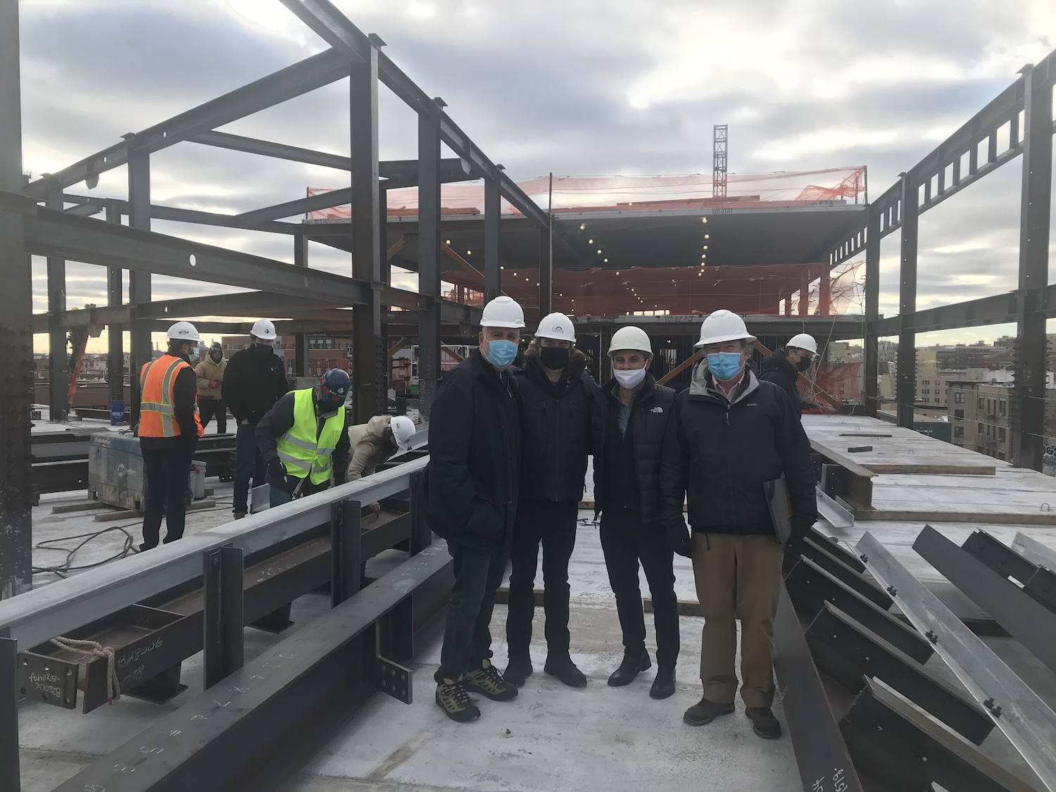 Topping off of Tiffany Court Plaza at 980 Westchester Avenue in Foxhurst, The Bronx