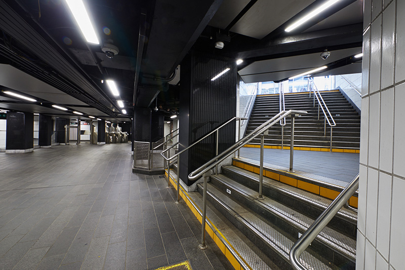 New ADA-compliant subway entrance leading up to Lexington Avenue - Stantec