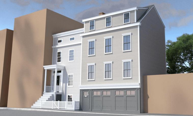 Original renderings of 56 Middaugh Street proposed in January 2020 - Pratt + Black Architects