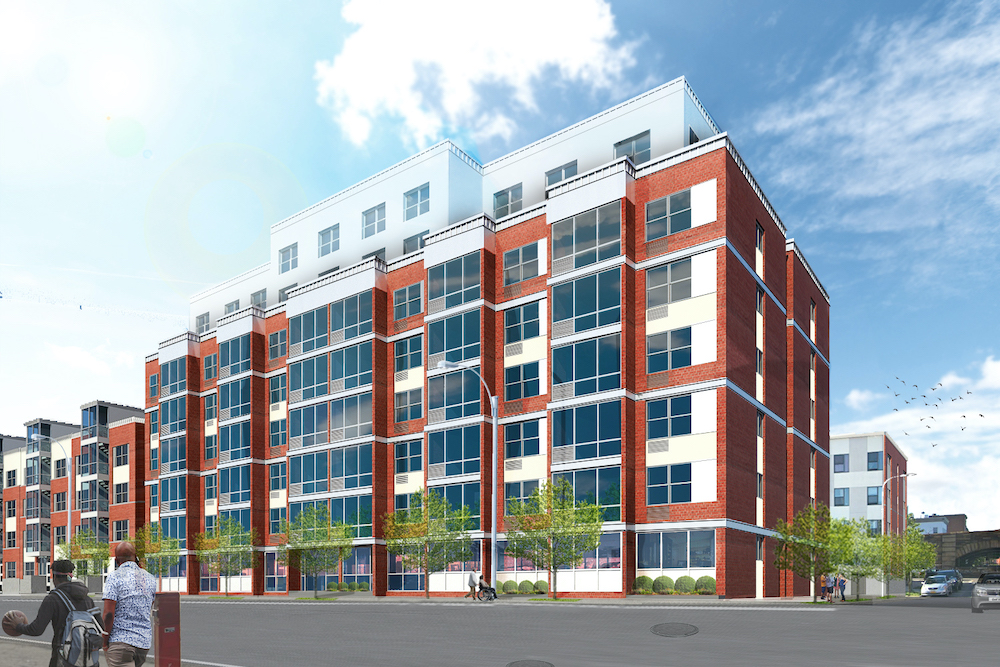 Rendering of Catholic Charities Loreto Apartments - RKTB Architects