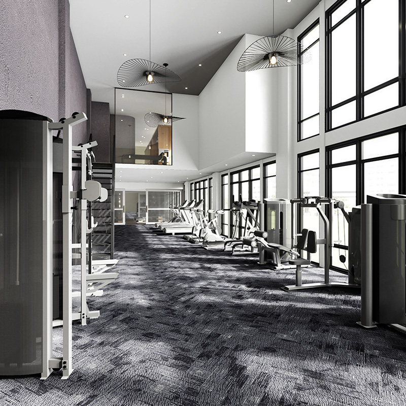 Rendering of resident gym at SOLAIA - Architectura; Skyline Development Group