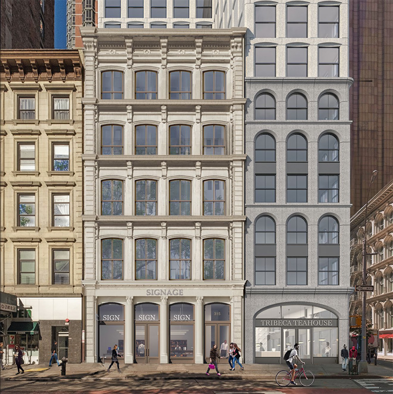 Updated historic facade at 315 Broadway - Morris Adjmi Architects