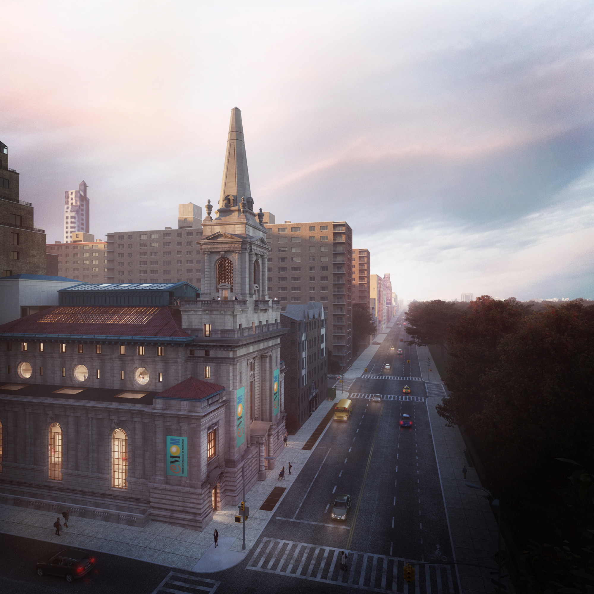 Updated rendering of the new Children's Museum of Manhattan - FXCollaborative