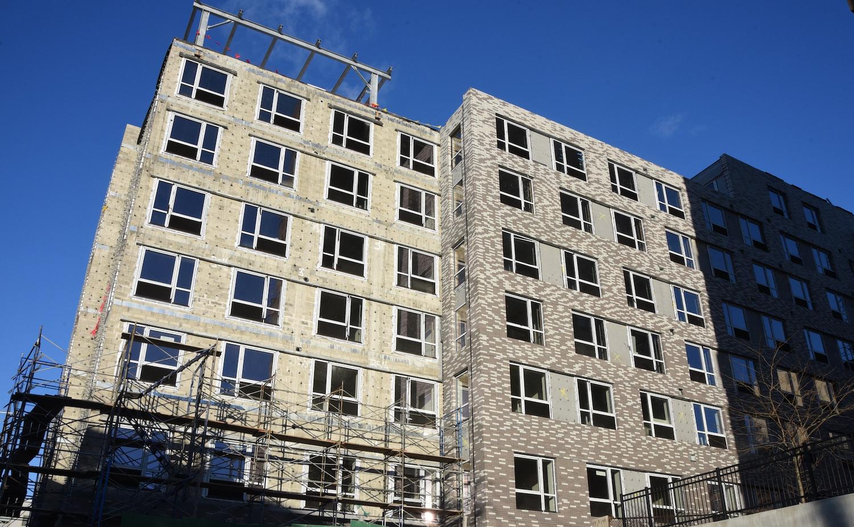 Construction in progress at 172 Warburton at The Ridgeway.
